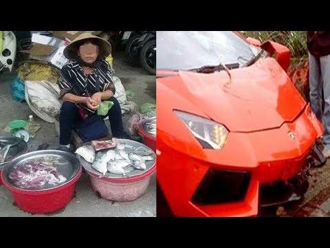 Cặp vợ chồng bán cá lỡ làm chầy xước xe Lamborghini, chủ xe nói đúng 1 câu khiến ai cũng chê't sững
