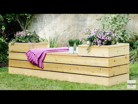 DIY: How to Build a Planter Bench with Storage - RealCedar.com