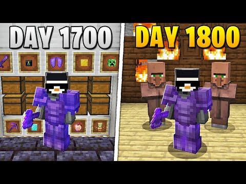I Survived 1,800 Days in HARDCORE Minecraft...