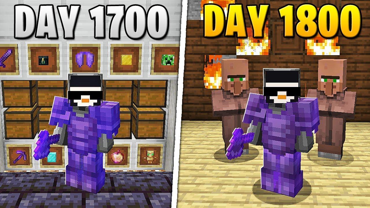 Download I Survived 1,800 Days in HARDCORE Minecraft...