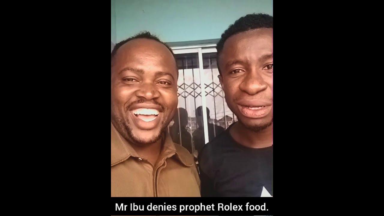 Mr Ibu denies prophet Rolex food,,,