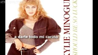 Kylie Minogue - I Should Be So Lucky (español)