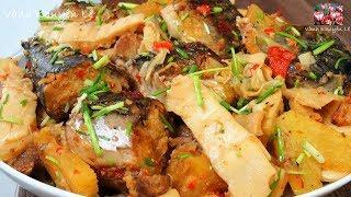CÁ KHO MĂNG - Kho cá không tanh - Cá Nục Makrele / Makrel kho Măng by Vanh Khuyen