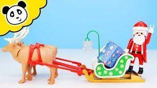Playmobil Unboxing - Weihnachtsmann mit Rentierschlitten! - Spielzeug auspacken & spielen