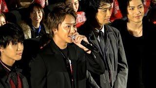 10月8日、丸の内ピカデリーにて行われた映画「HiGH&LOW THE RED RAIN」...
