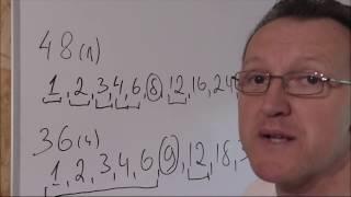 Наибольший общий делитель 1 часть Математика 6 класс