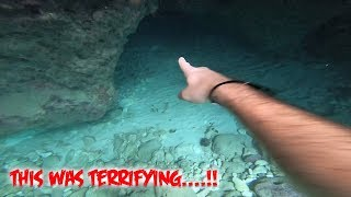 FOUND PIRATE CANONS DIVING FOR TREASURE IN SCARY HAUNTED BLOODY BAY CAVES JAMAICA!