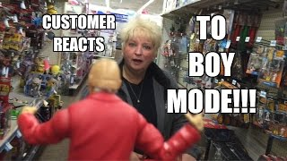 wwe action insider brock lesnar goes beast mode in kmart wrestling figure aisle