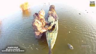 Тест каяка для охоты на уток.Охотник+лабрадор
