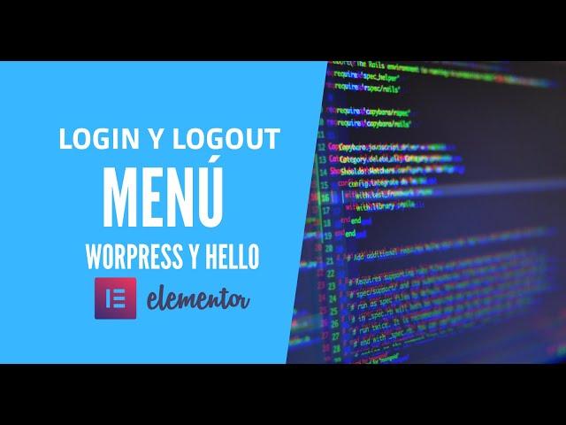 🔶 2 formas de como agregar  Login/Logout en menu WordPress