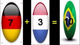 Netherlands vs Brazil ..  FIFA World Cup 2014 .. 7 +3 = 10