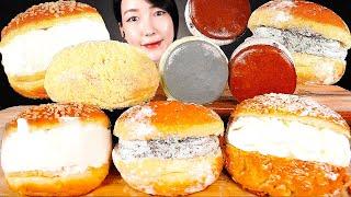 ASMR 파리바게트🍞민트초코 크림도넛 카스테라구마 생크림소보루 마카롱 아이스크림 빵 디저트 먹방 cream donut bread macaron ice cream MUKBANG パン