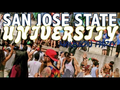 San Jose State Frat House Mansion Party [HD]