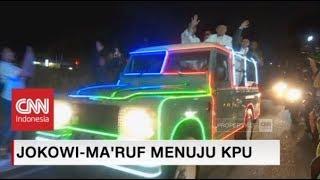 Naik Mobil Kelap-kelip, Jokowi-Ma'ruf Tiba di KPU