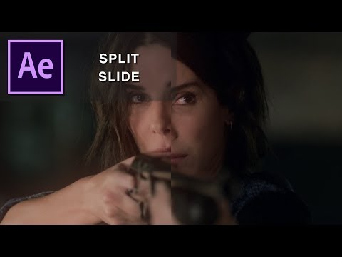 half split slide | after effects tutorial