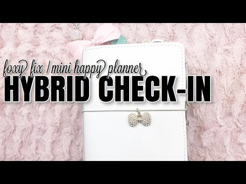 My Mini Foxy Fix / Happy Planner Hybrid CHECK IN | How's It Working For Me | At Home With Quita