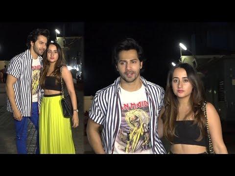 Varun Dhawan With Girlfriend Natasha Dalal At Special Screening Of Sui Dhaaga