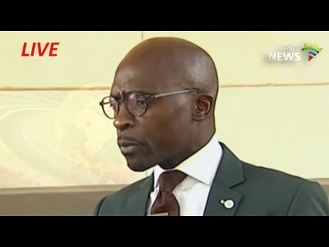 Minister of Finance Malusi Gigaba Briefs the Media