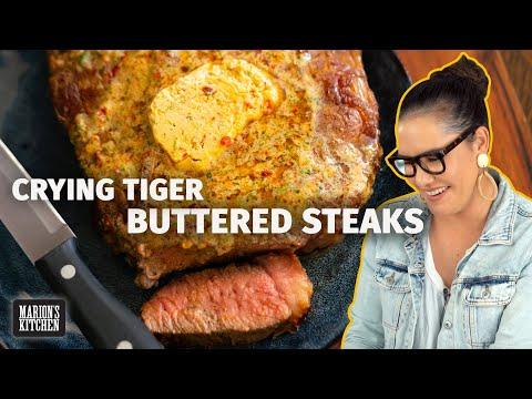 NEXT LEVEL Steak Dinner Idea! 'Crying Tiger' Buttered Steak 🔥 | Marion's Kitchen