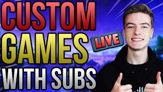 🔴CUSTOM GAMES/SCRIMS WITH SUBS!! COME AND JOIN IN! *LIVE* | CUSTOM MATCHMAKING | PS4 UK Fortnite