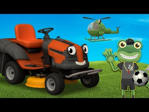 Maisie The Lawn Mower Visits Gecko's Garage | Learn Shapes For Kids