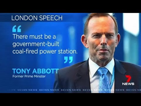 Tony Abbott insists the government build a coal-fired power station