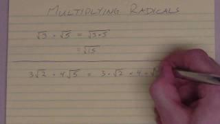 Multiplying radicals (part I)