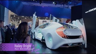 Hailey Bright-  Toyota Concept-i AI Car at CES