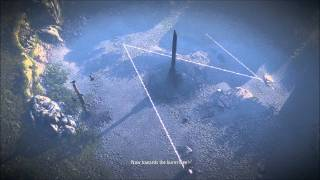The Witcher 2 - Guide Henselt as he draws the magic runes