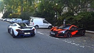 Double McLaren P1 MSO Combo and Race Mode in London