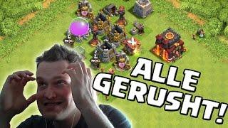 ALLE RATHÄUSER GERUSHED! || CLASH OF CLANS || Let