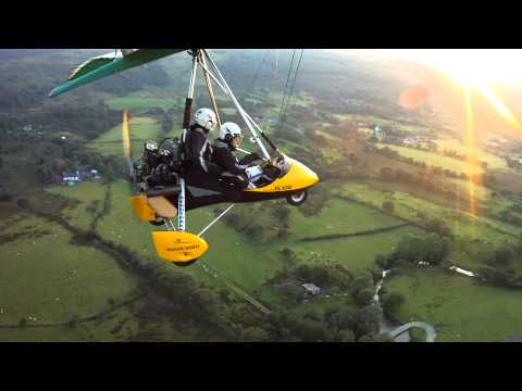 Flying in a Microlight over Snowdon
