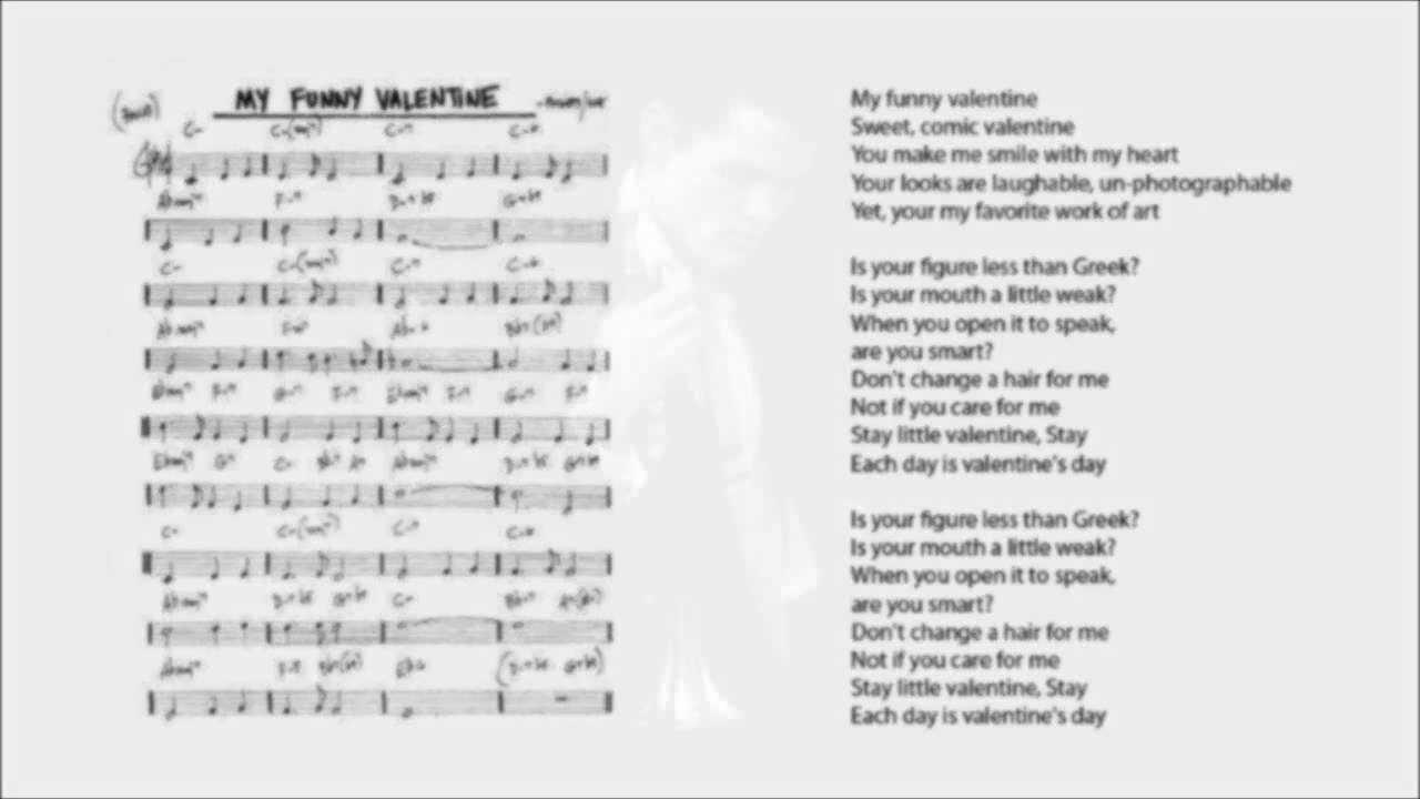 My Funny Valentine Chords Lyrics Chet Baker Re