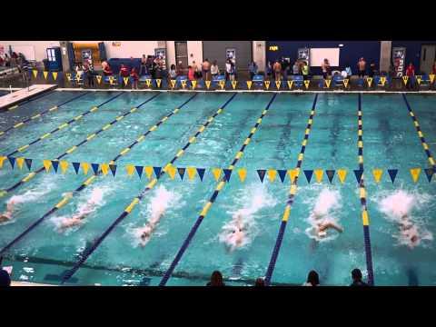 Ethan Webber Winning the 2015 TAPPS regional Swim Championship Prestonwood Christian Academy