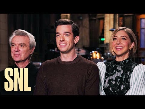 John Mulaney and David Byrne Celebrate Heidi Gardner's First Promo - SNL