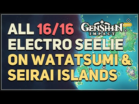 Download All 16 Electro Seelie on Watatsumi Island and Seirai Island Genshin Impact