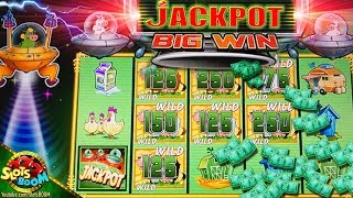 Great JACKPOT Bonus!!! Invades Return from the Planet Moolah 1c Wms Slots