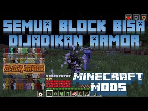 """""""SEMUA BLOCK BISA DIJADIKAN ARMOR"""" Minecraft Seru #19"""