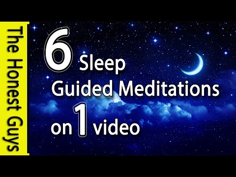 6 Guided Sleep Meditations on one Video (No Ads Between Trac