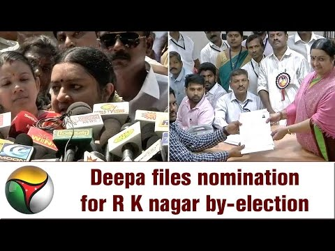Deepa Jayakumar's Press Meet after filing Nomination for RK Nagar By-Election