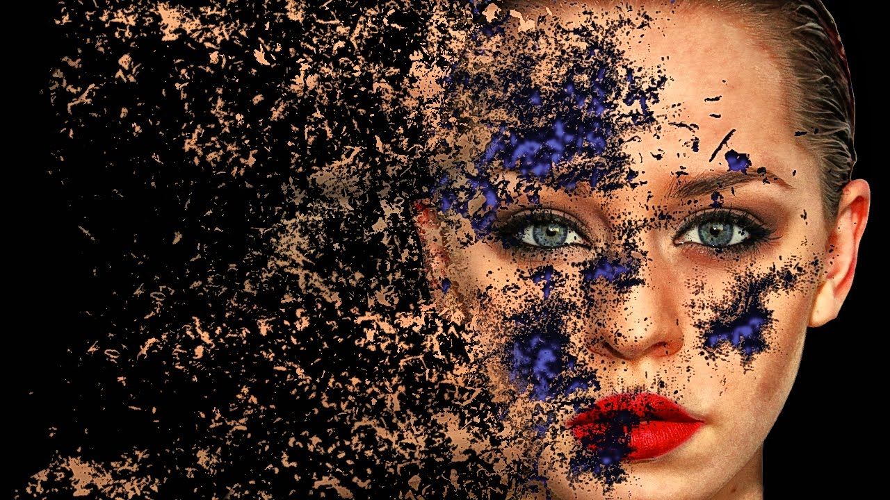 Face Dispersion Effect Photoshop Tutorial Cs6 Cc Youtube