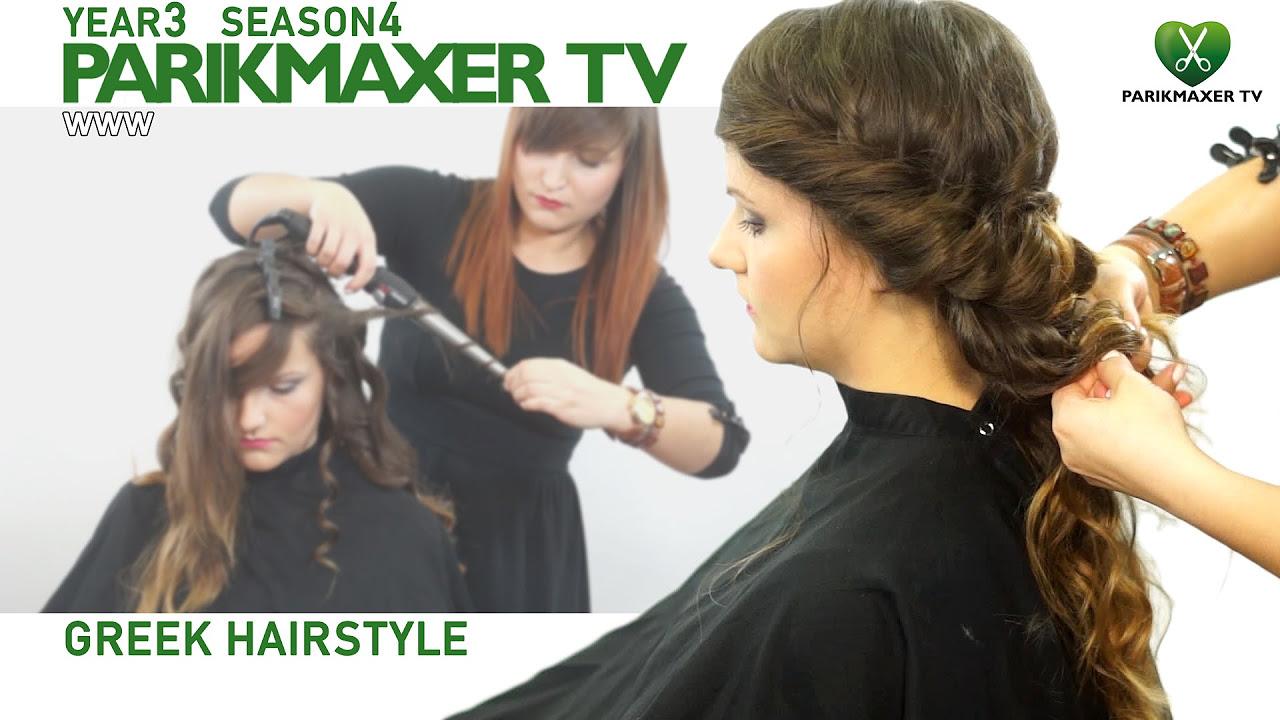 смотреть видео греческая с ободком резинкой для волос инструкция