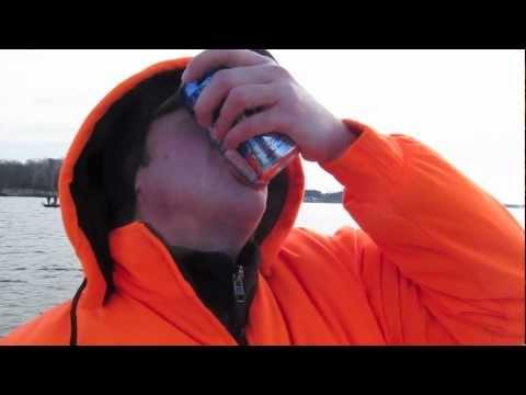 shotgunning 10 beers while fishing