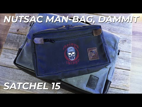 Nutsac Man-Bag, Dammit Review: Comparison with the Satchel 15 (BEST EDC BAG?)