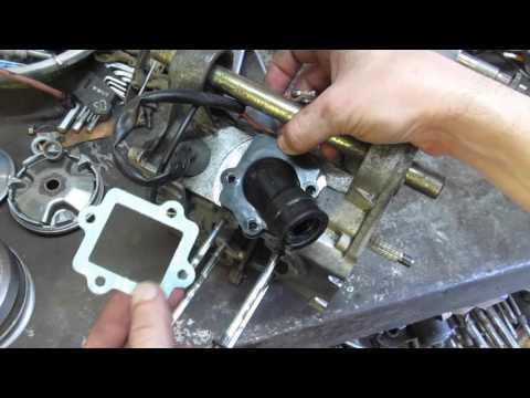 Yamaha JOG 3KJ Устройство и установка лепесткового клапана