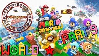 Super Mario 3D World - Let's Play - PART 9 | World Star 100%! 【Nintendo Wii U Gameplay 1080p】