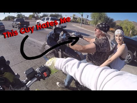 HARLEY GUY HATES MY WHEELIES !!