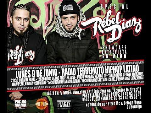 RADIO TERREMOTO HIPHOP LATINO - INVITADO: REBEL DIAZ 07.04.2014