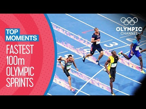 Top Fastest Men's 100m in Olympic History! - Top Moments