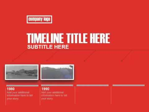 Keynote Modern Red Timeline Template  Youtube